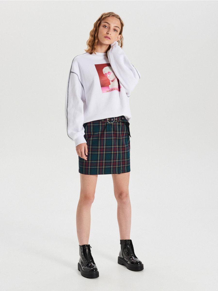 Spódnica Cropp mini w kratkę