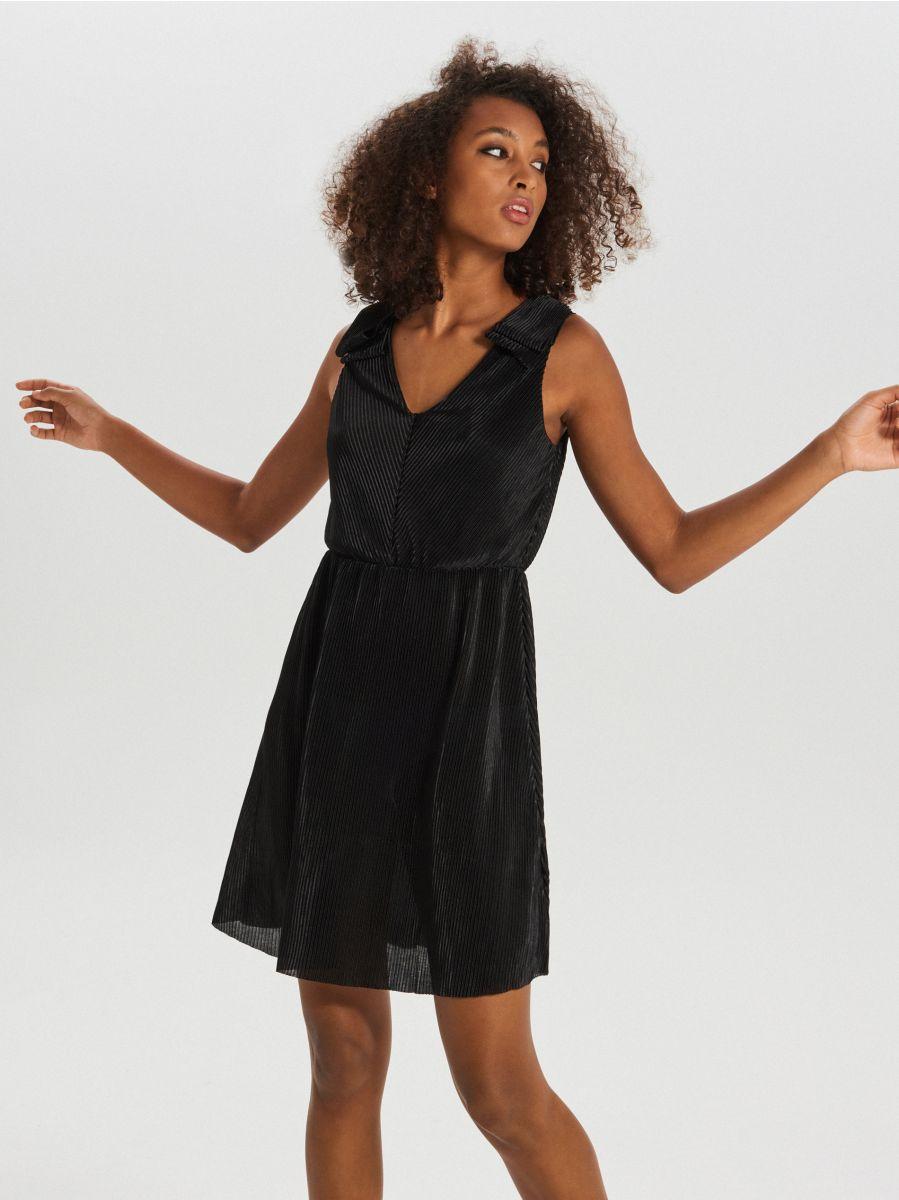 Sukienka z dekoltem - CZARNY - XI747-99X - Cropp - 1