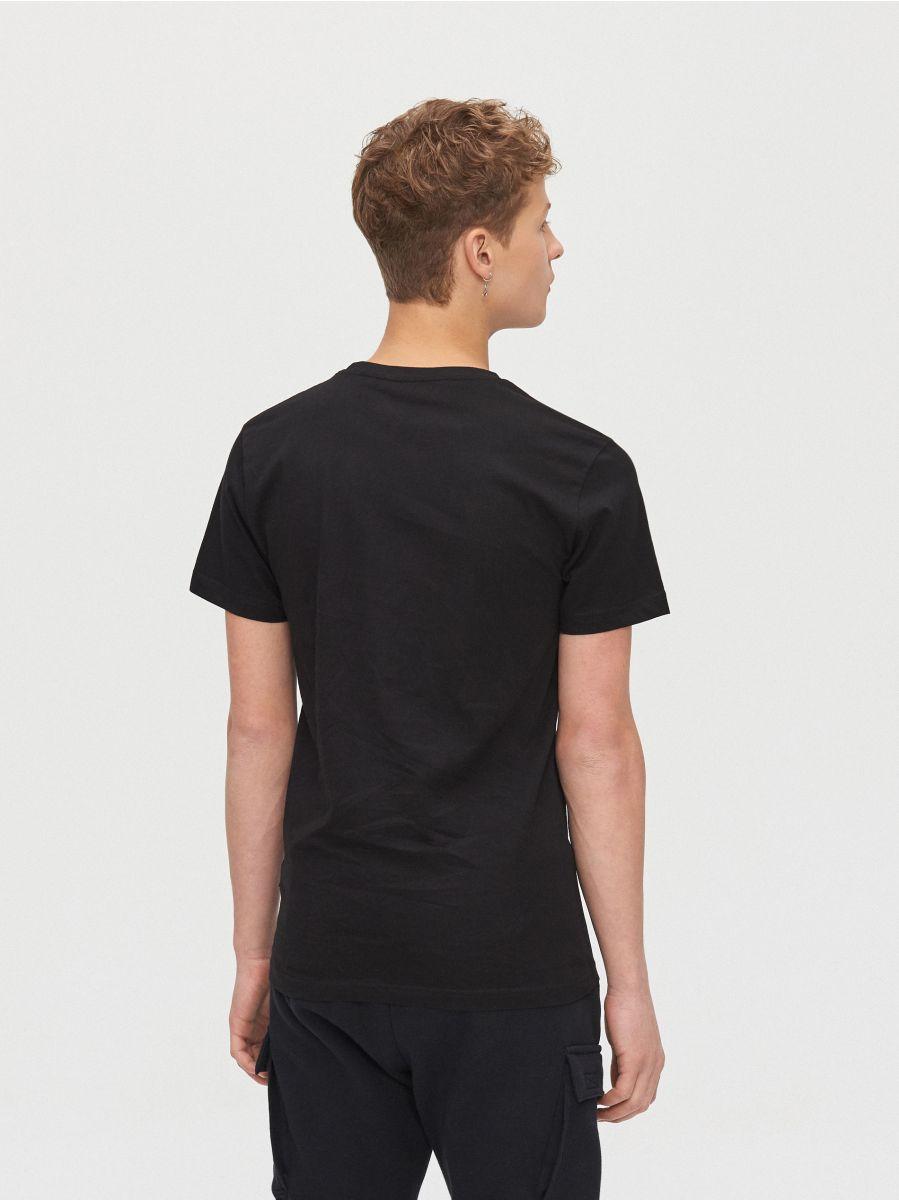 Koszulka z grafiką - CZARNY - XZ381-99X - Cropp - 4