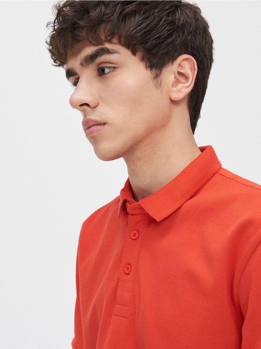 Kolorowa koszulka polo - CZERWONY - YD669-33X - Cropp - 3