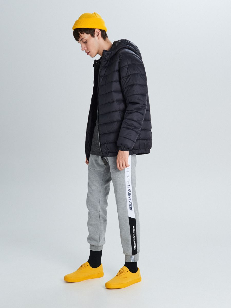 Pikowana kurtka z ociepleniem - CZARNY - VB157-99X - Cropp - 1
