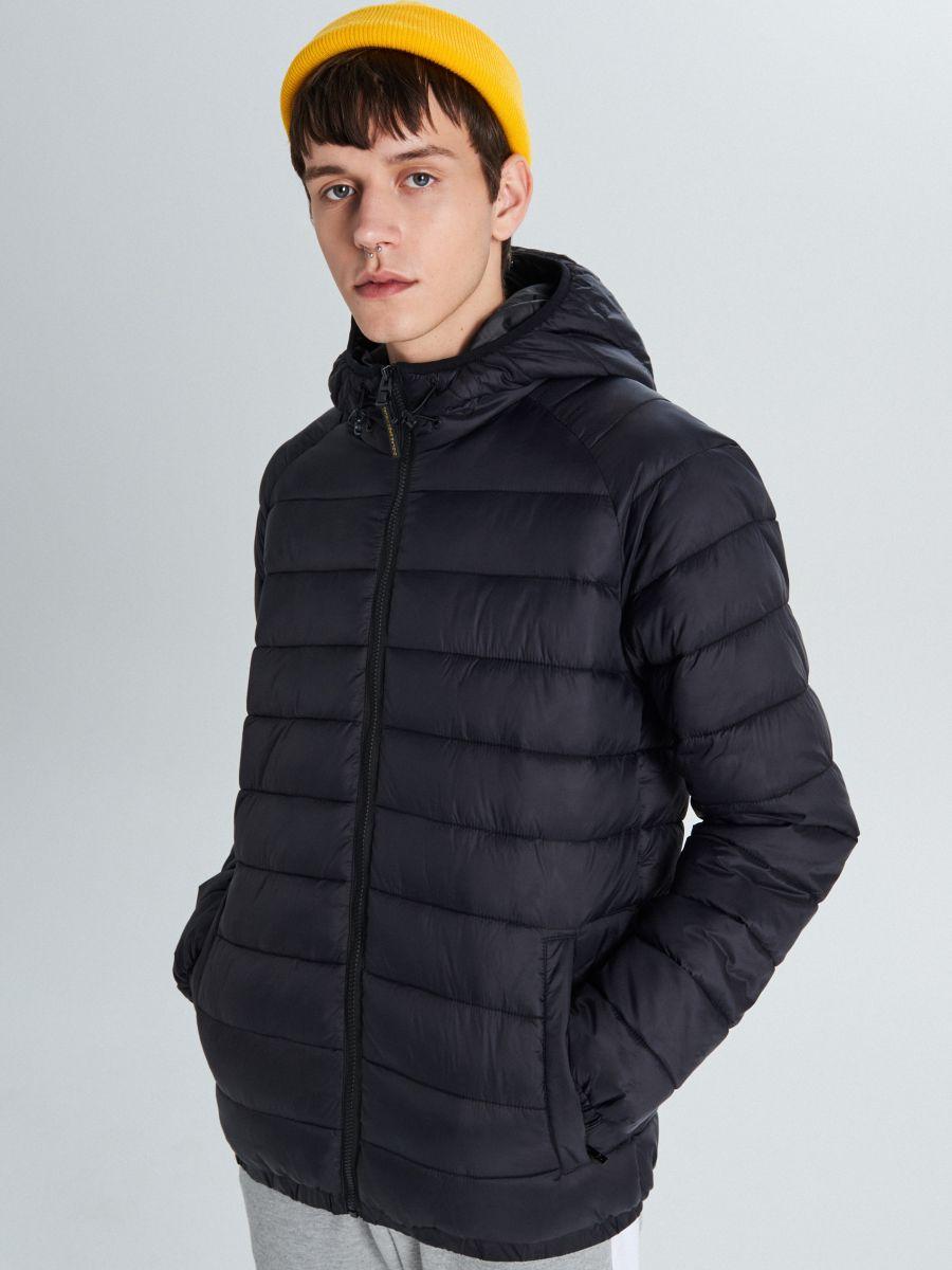 Pikowana kurtka z ociepleniem - CZARNY - VB157-99X - Cropp - 3