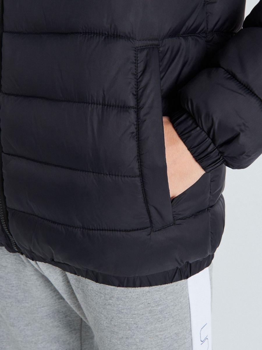 Pikowana kurtka z ociepleniem - CZARNY - VB157-99X - Cropp - 4