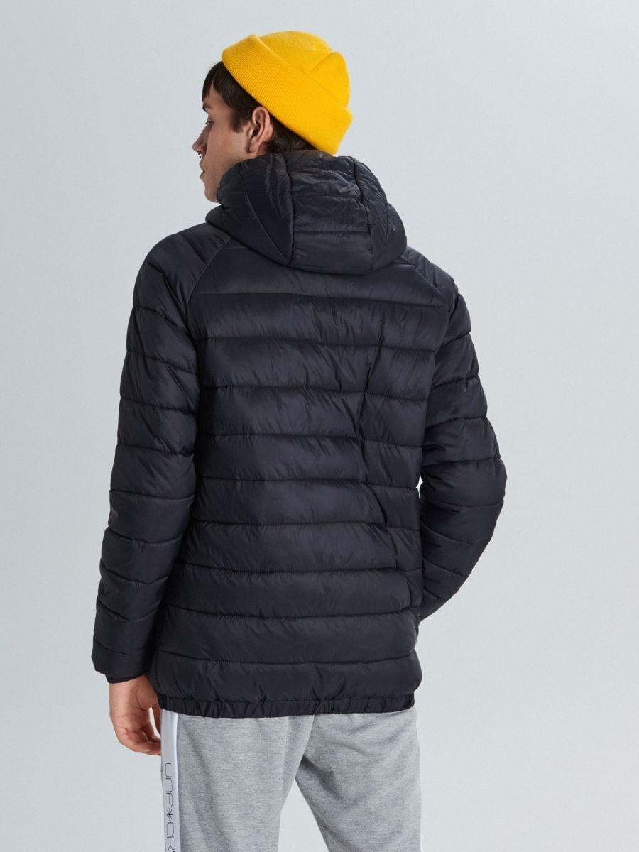 Pikowana kurtka z ociepleniem - CZARNY - VB157-99X - Cropp - 5