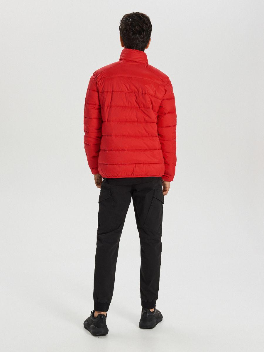 Pikowana kurtka na zimę - CZERWONY - WA079-33X - Cropp - 5
