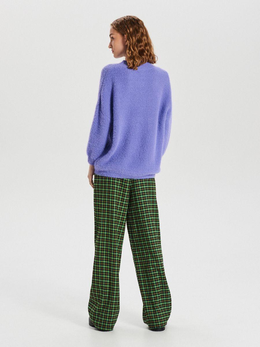 Puszysty sweter - NIEBIESKI - WB898-54X - Cropp - 5
