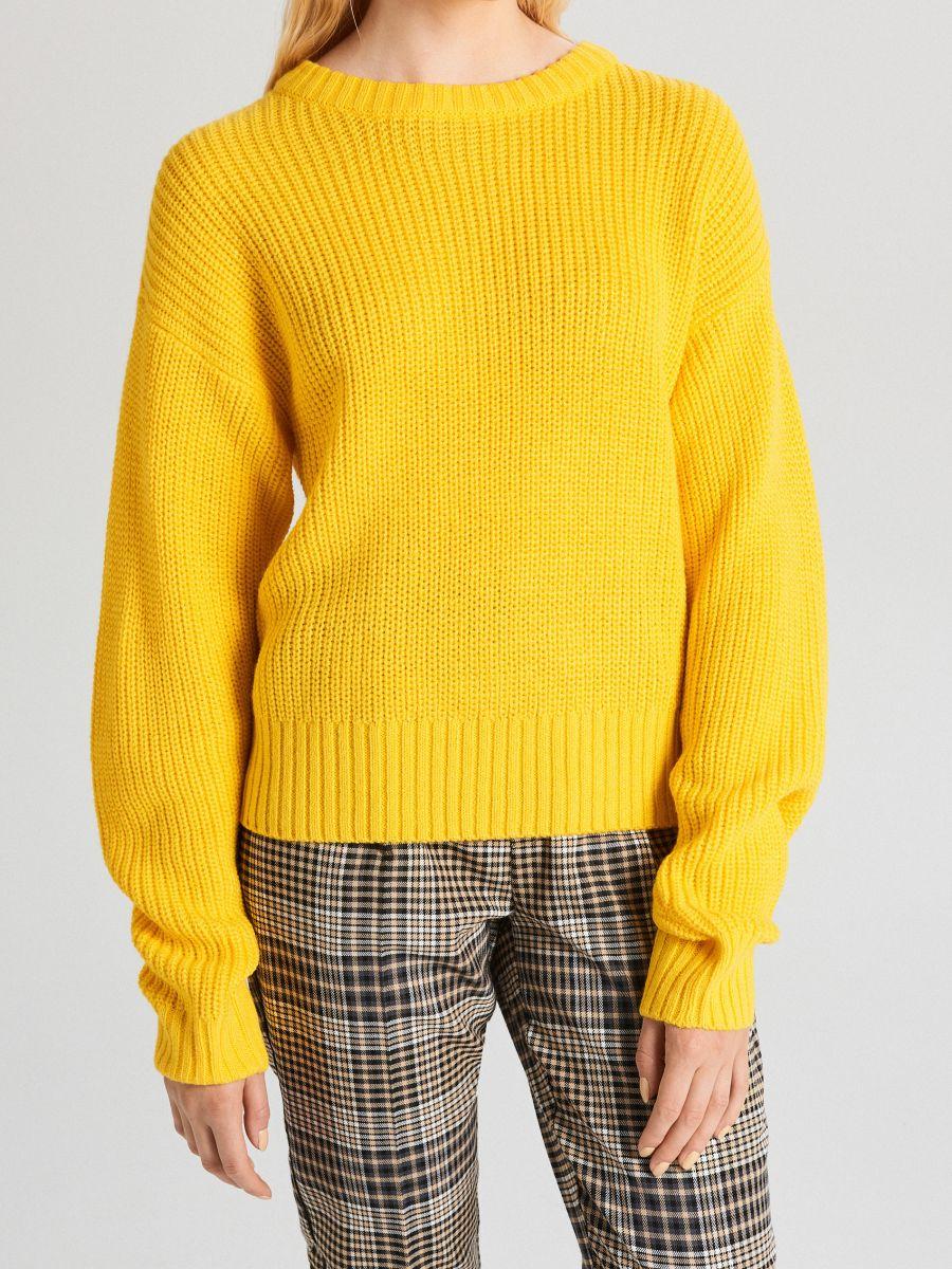 Sweter oversize - ŻÓŁTY - WB907-18X - Cropp - 3