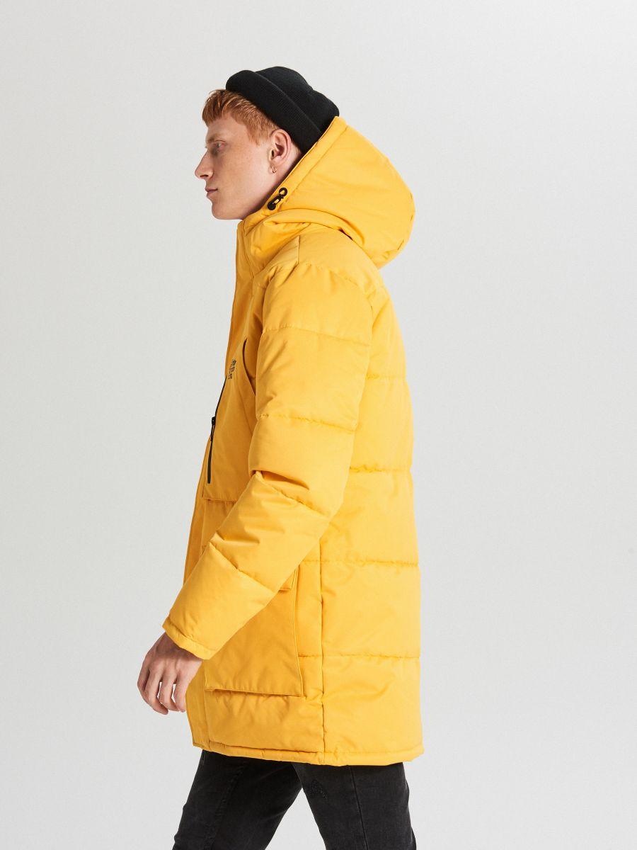 Sportowy płaszcz z kapturem - ŻÓŁTY - WC151-11X - Cropp - 2