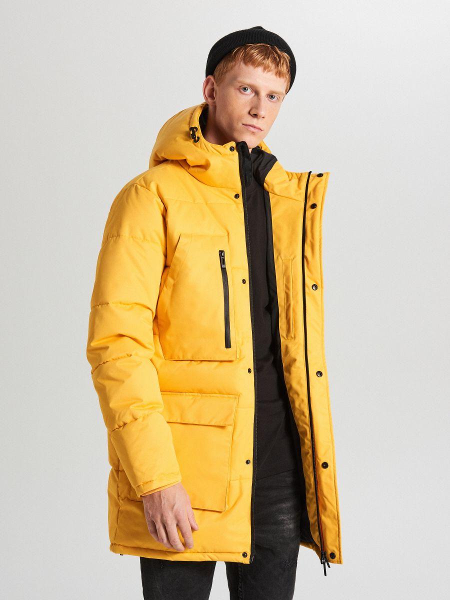 Sportowy płaszcz z kapturem - ŻÓŁTY - WC151-11X - Cropp - 6