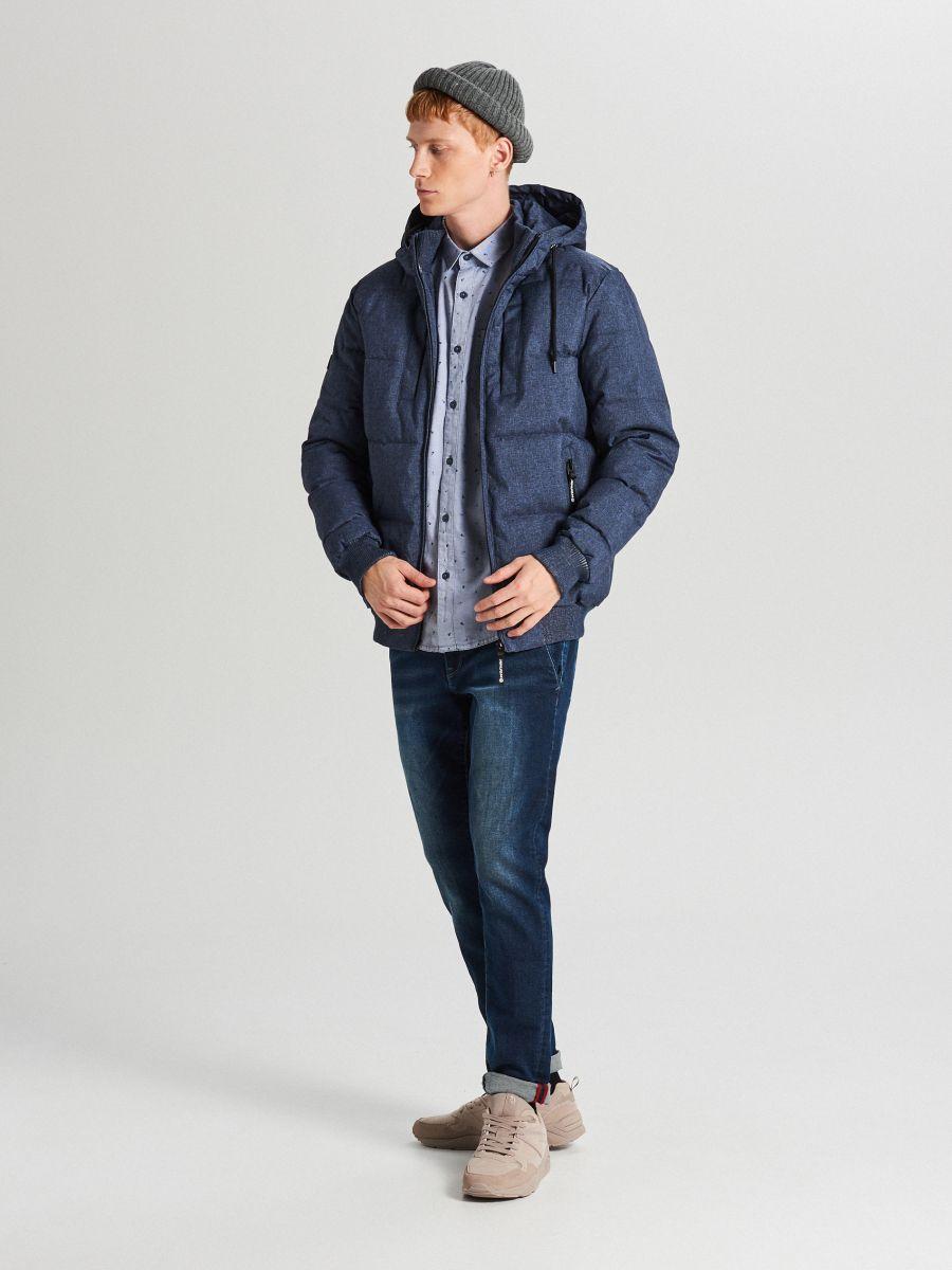 Pikowana kurtka na zimę - GRANATOWY - WC153-59M - Cropp - 1