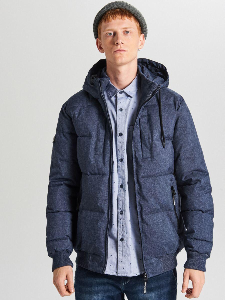 Pikowana kurtka na zimę - GRANATOWY - WC153-59M - Cropp - 2