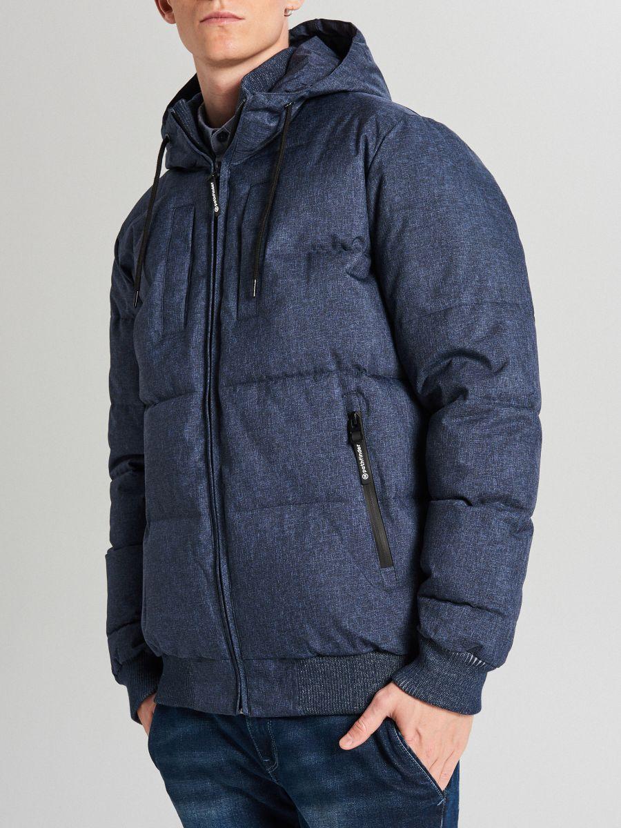 Pikowana kurtka na zimę - GRANATOWY - WC153-59M - Cropp - 5