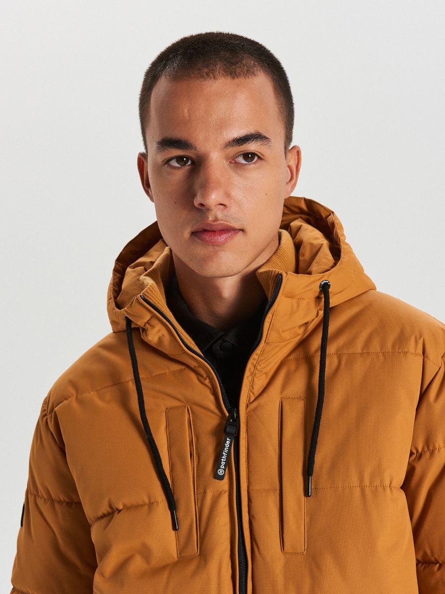 Pikowana kurtka na zimę - BRĄZOWY - WC153-82X - Cropp - 3
