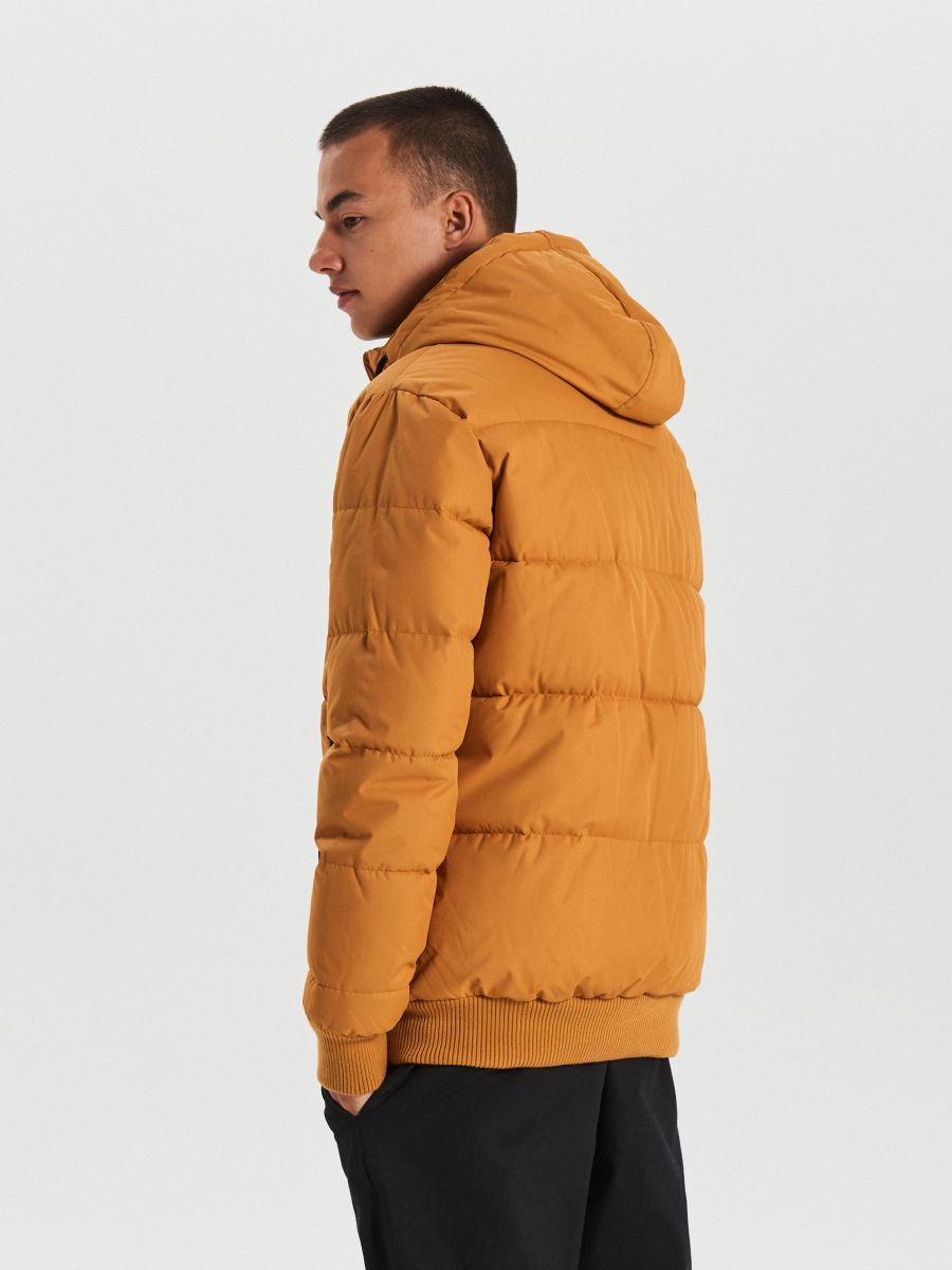 Pikowana kurtka na zimę - BRĄZOWY - WC153-82X - Cropp - 5