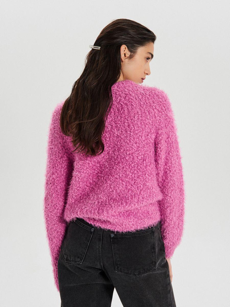 Puszysty sweter - FIOLETOWY - WC870-44X - Cropp - 4
