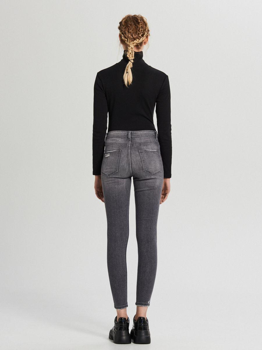 Jeansy skinny mid waist - SZARY - WC912-90J - Cropp - 4