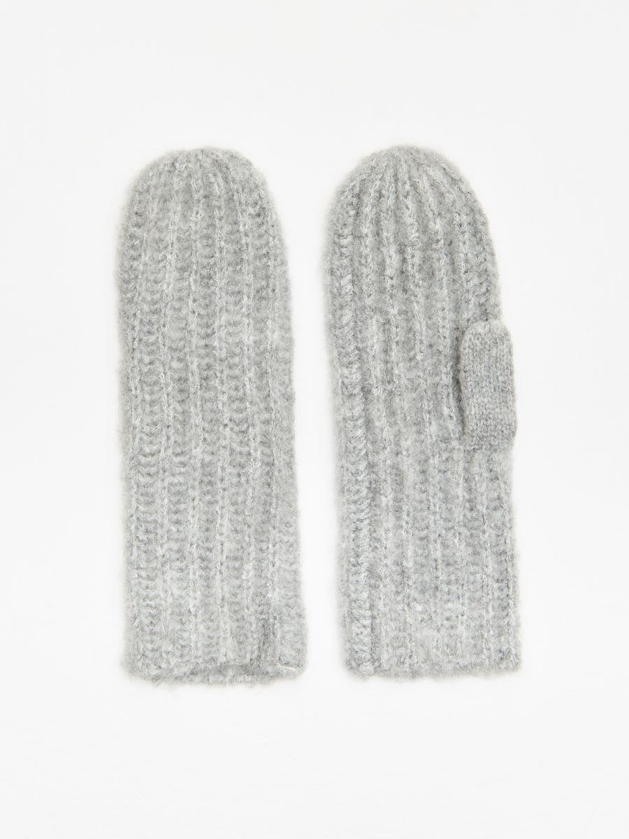 Jednopalczaste rękawiczki - JASNY SZARY - WD992-09M - Cropp - 1