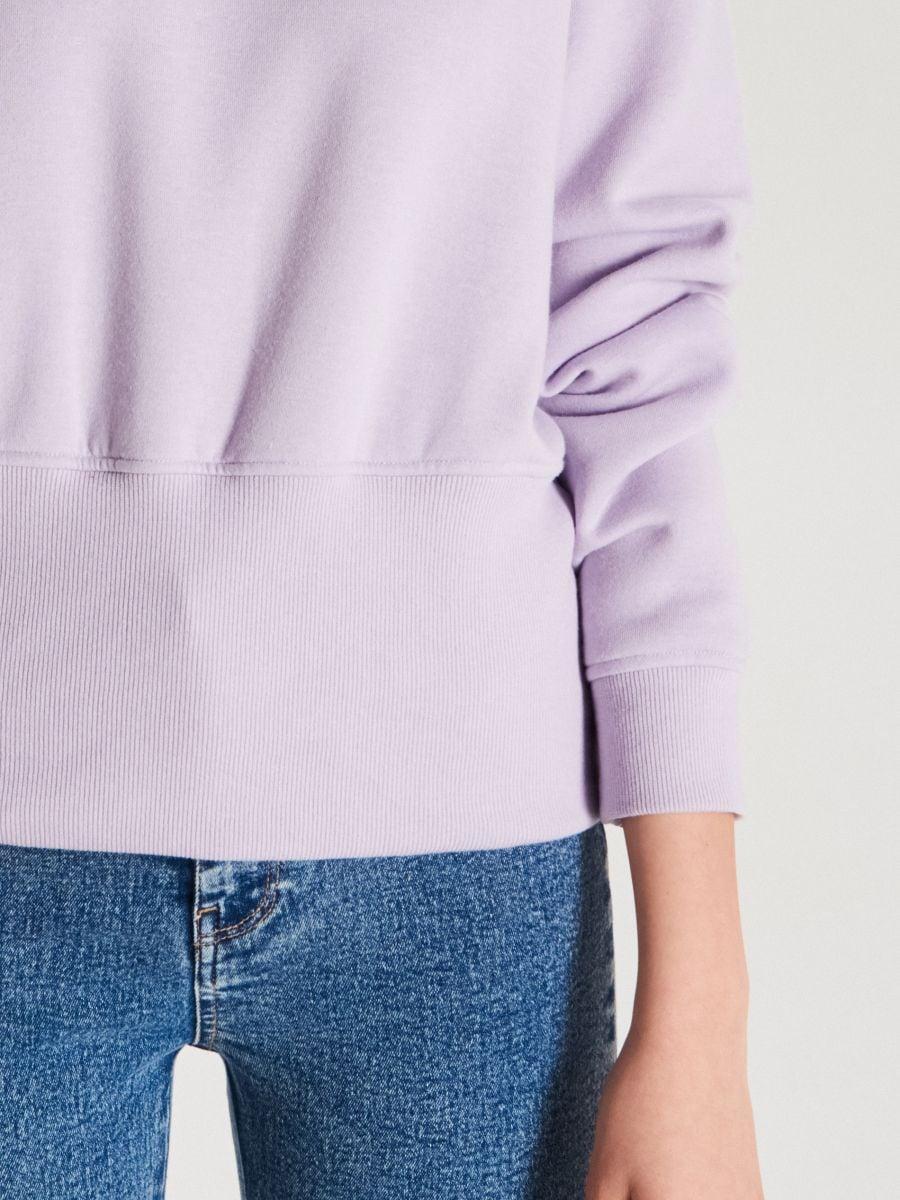 Bluza z szerokim ściągaczem - FIOLETOWY - WE190-48X - Cropp - 3