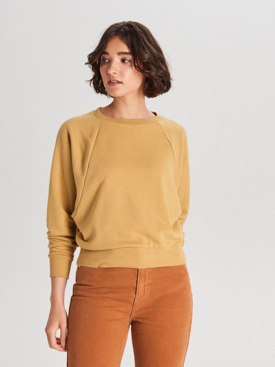 Bluza z raglanowym rękawem - ŻÓŁTY - WE228-18X - Cropp - 2