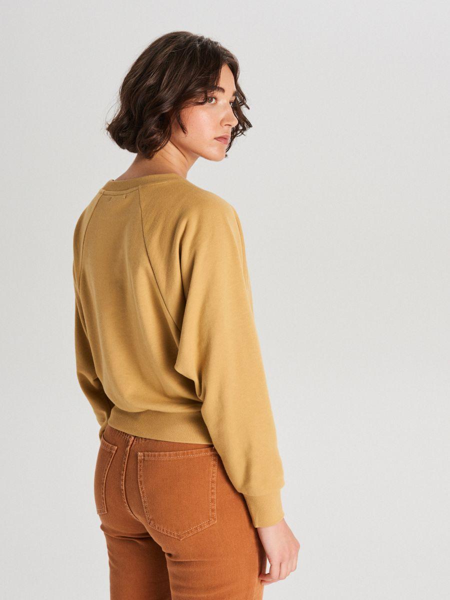 Bluza z raglanowym rękawem - ŻÓŁTY - WE228-18X - Cropp - 4