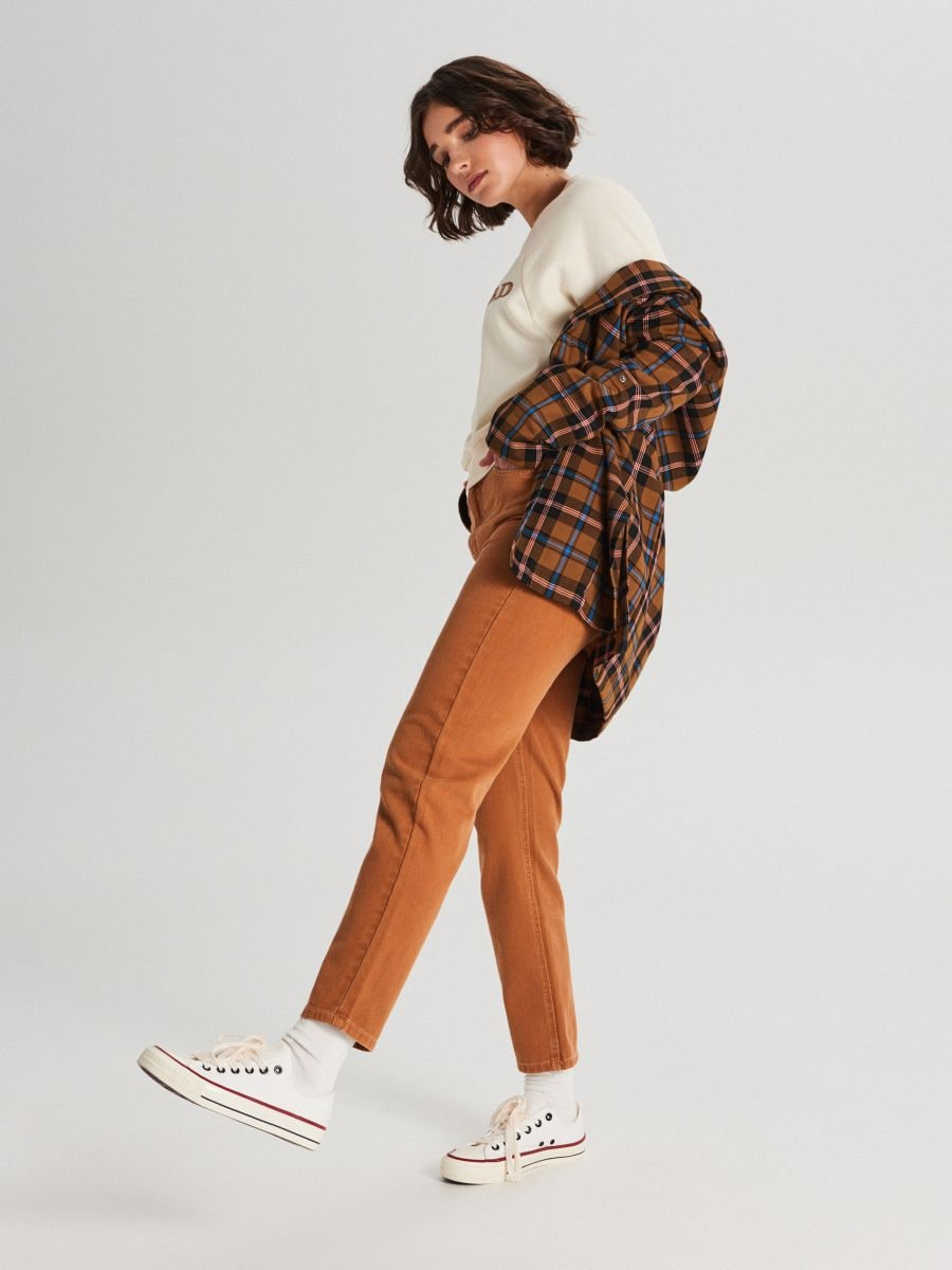 Bluza z raglanowym rękawem - BEŻOWY - WE228-80X - Cropp - 2