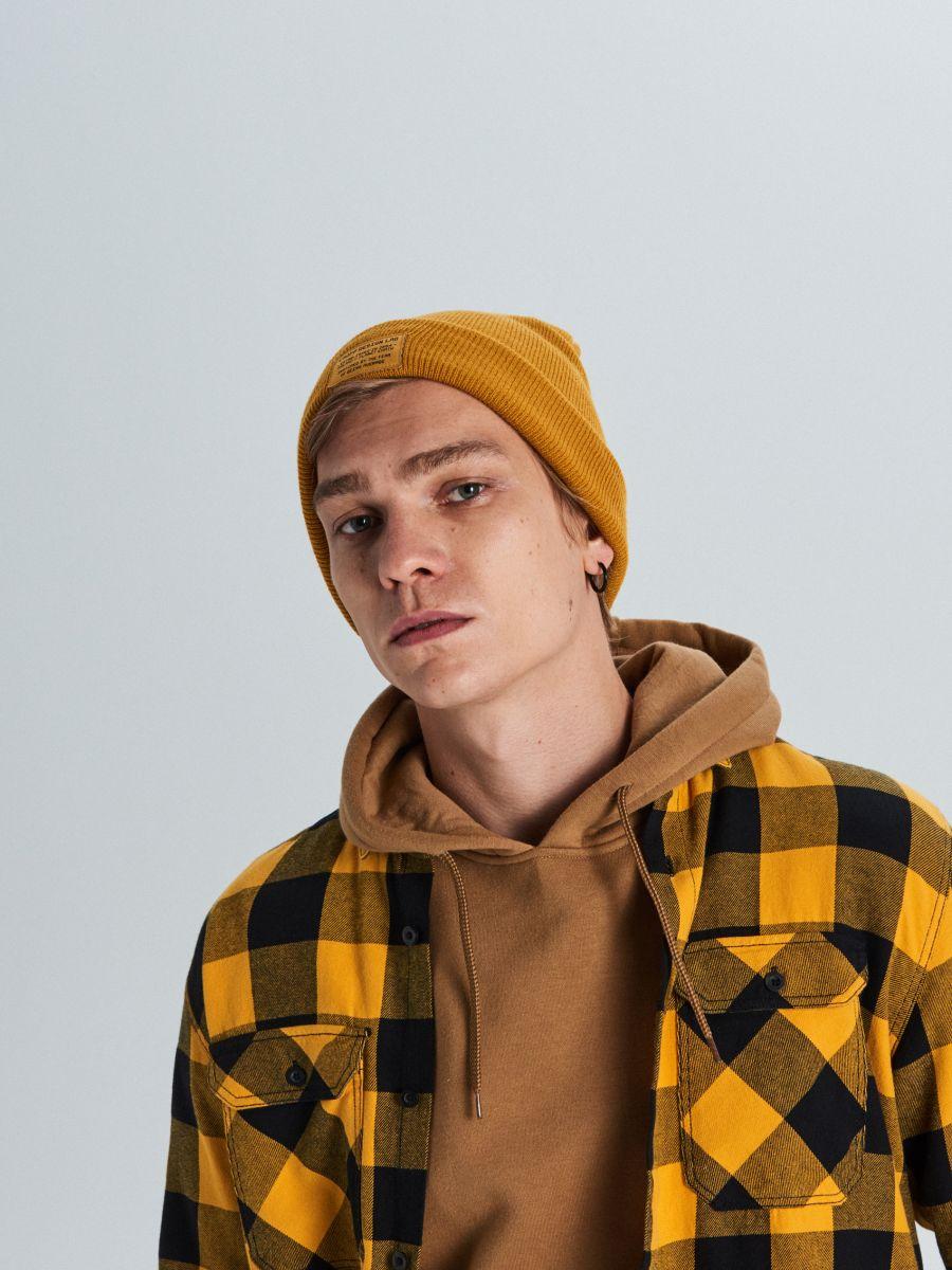 Koszula w kratę - ŻÓŁTY - WE365-11X - Cropp - 3