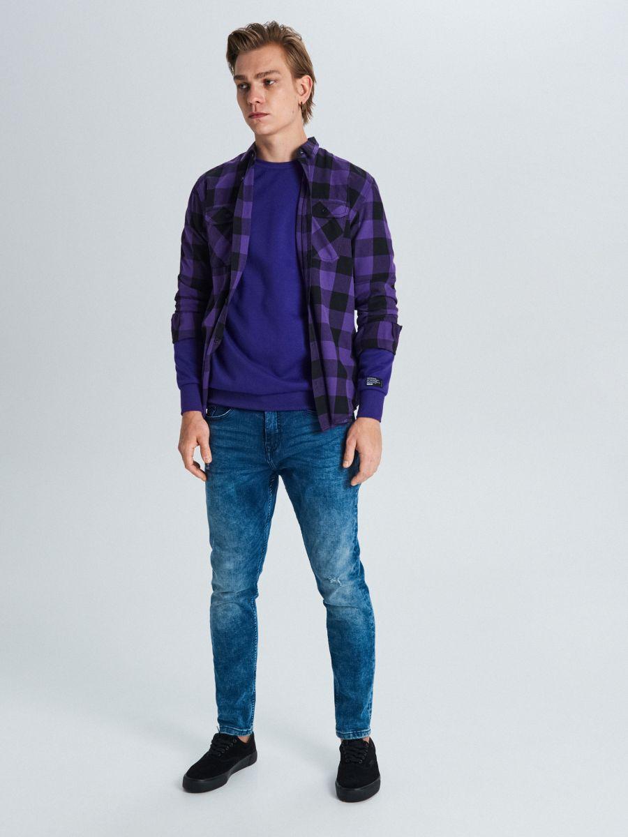 Koszula w kratę - FIOLETOWY - WE365-44X - Cropp - 2