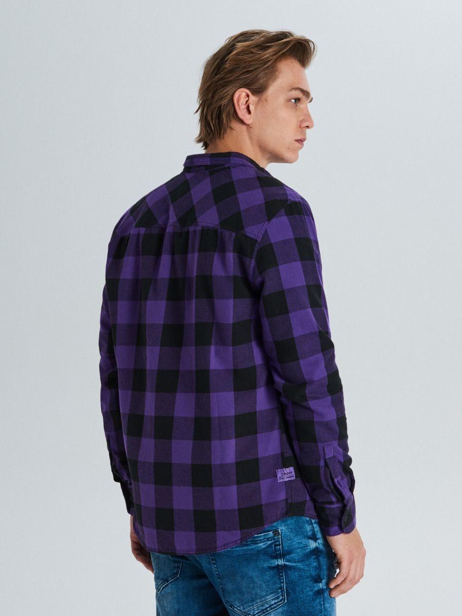 Koszula w kratę - FIOLETOWY - WE365-44X - Cropp - 4