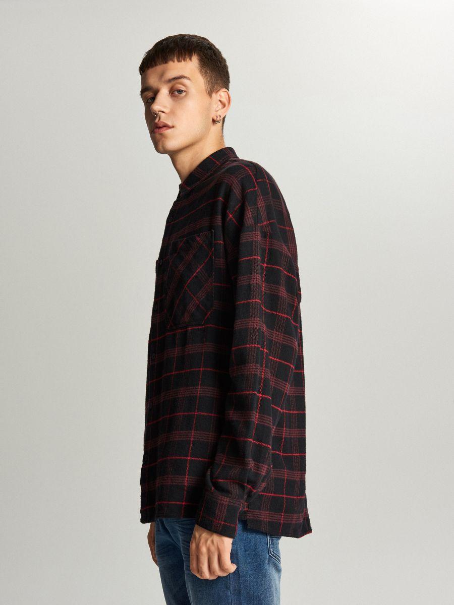 Koszula oversize w kratę - FIOLETOWY - WE367-45X - Cropp - 2