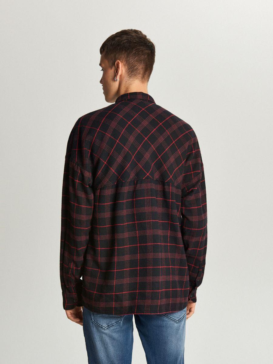 Koszula oversize w kratę - FIOLETOWY - WE367-45X - Cropp - 4