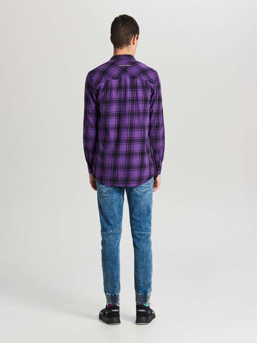 Długa koszula z zamkami - FIOLETOWY - WF529-44X - Cropp - 3