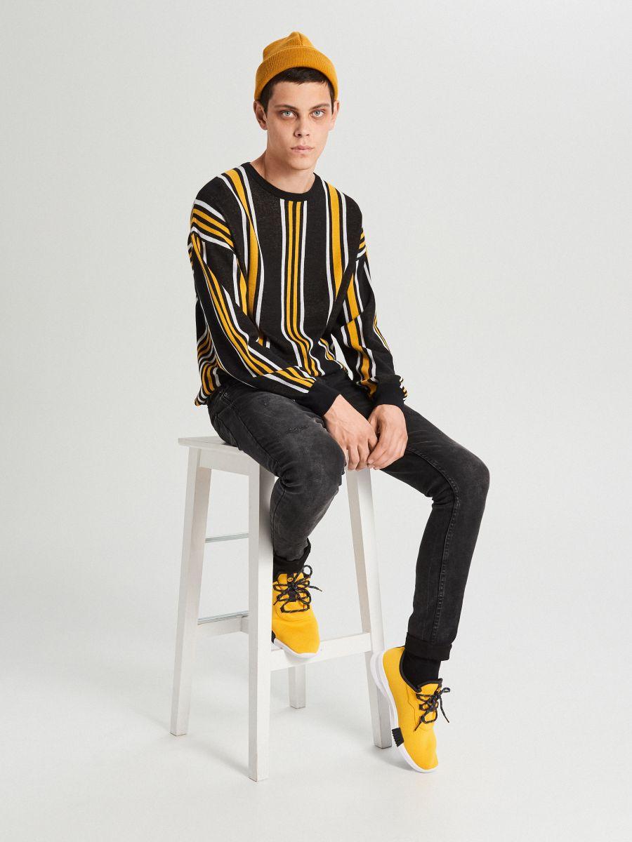 Sweter w paski - POMARAŃCZOWY - WG366-22X - Cropp - 3