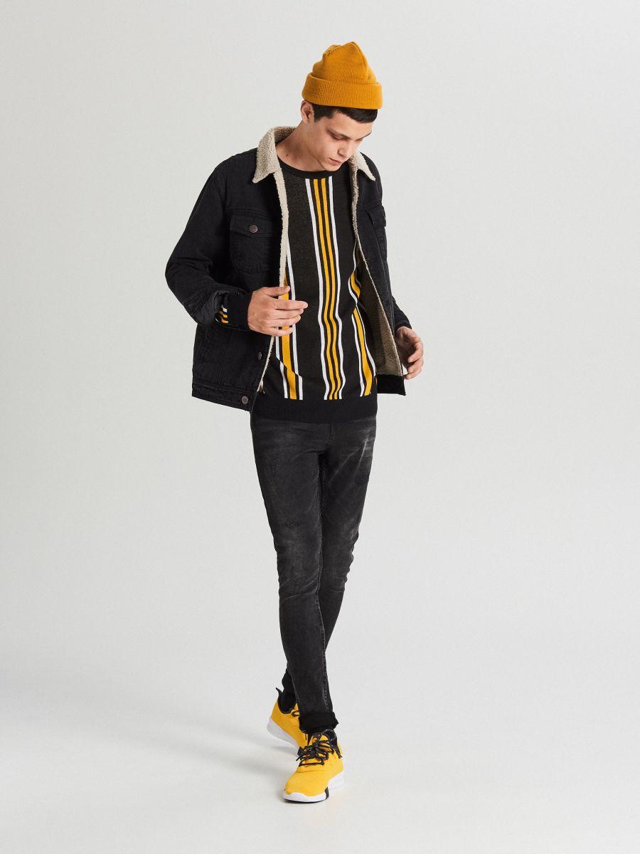 Sweter w paski - POMARAŃCZOWY - WG366-22X - Cropp - 5