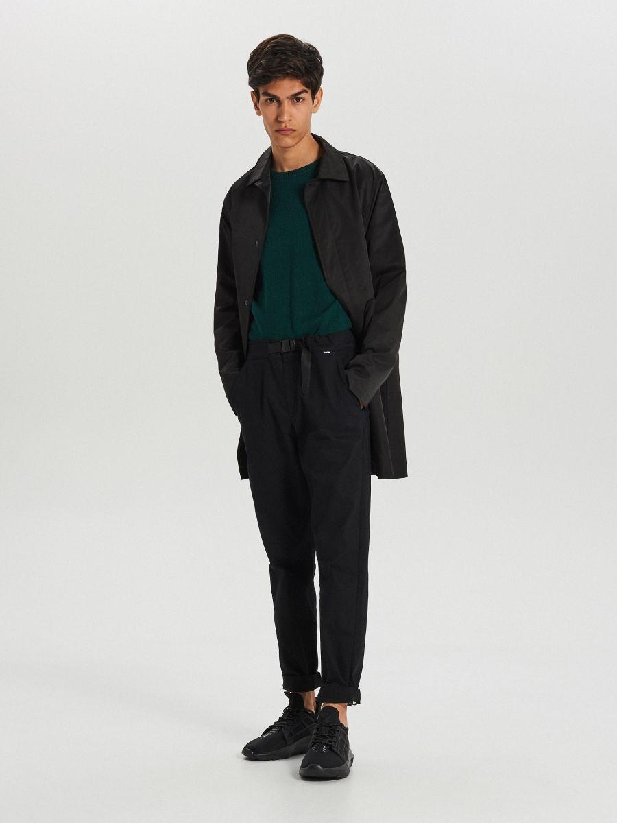 Gładki sweter - ZIELONY - WG371-77X - Cropp - 2