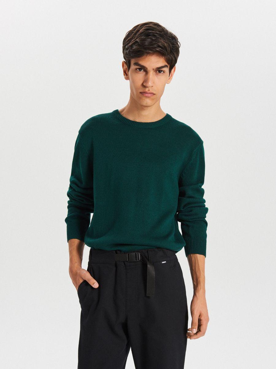 Gładki sweter - ZIELONY - WG371-77X - Cropp - 3