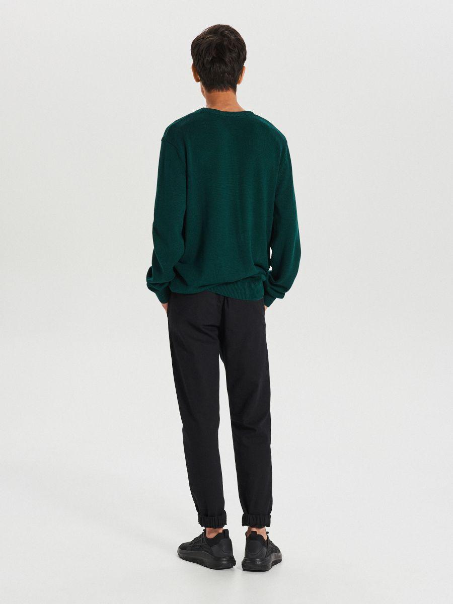 Gładki sweter - ZIELONY - WG371-77X - Cropp - 5