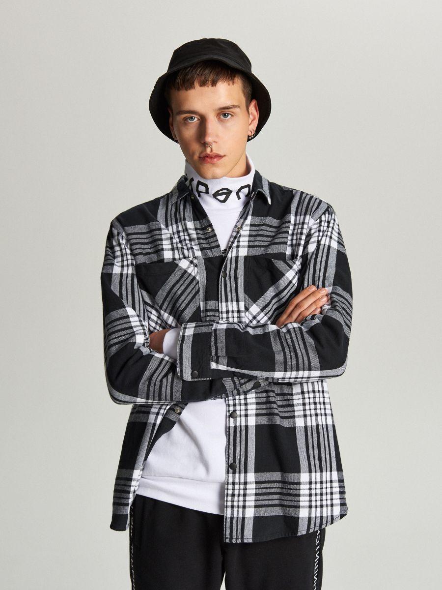 Koszula w kratę - CZARNY - WI205-99X - Cropp - 1