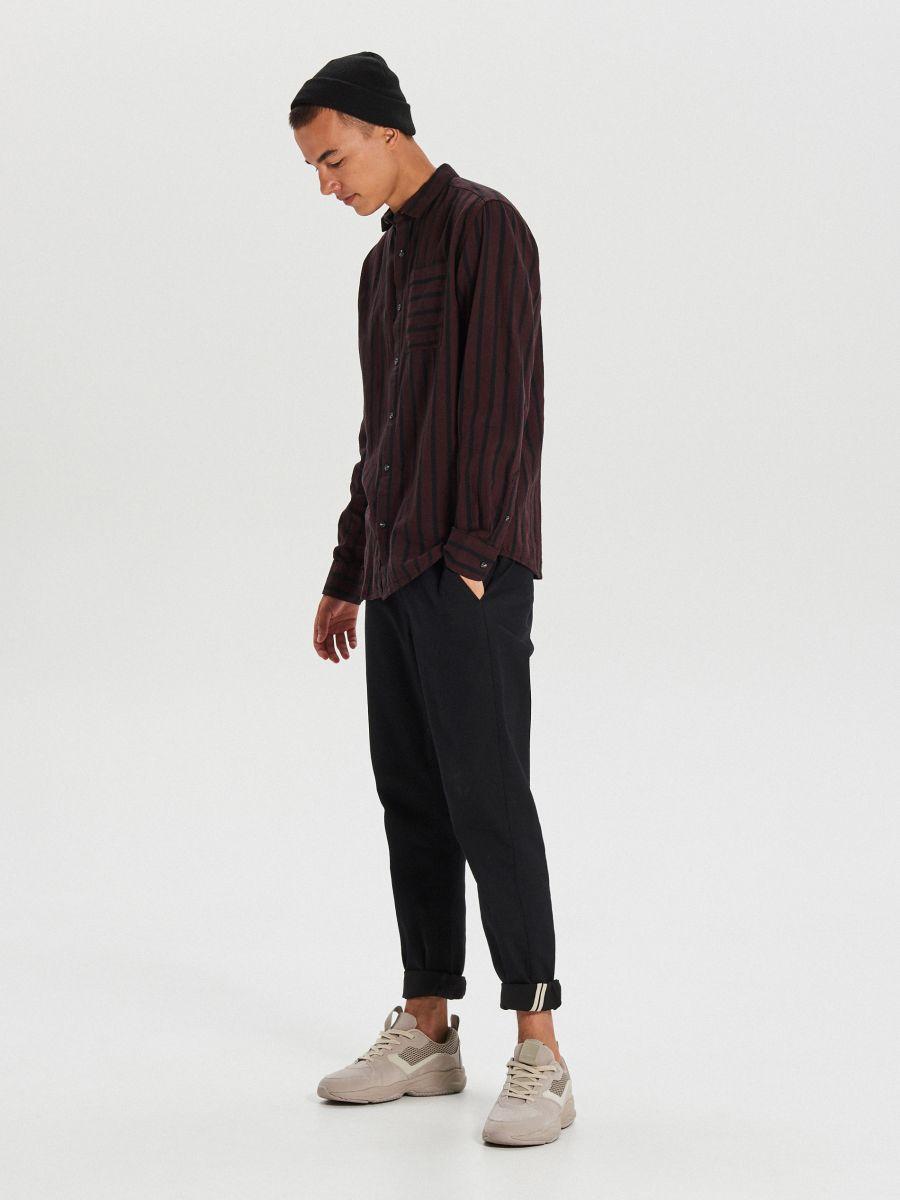 Koszula w paski - BORDOWY - WI206-83X - Cropp - 2