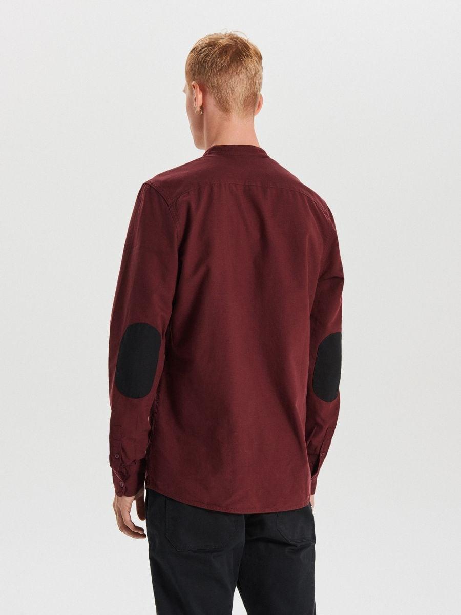 Gładka koszula o kroju slim - BORDOWY - WI222-83X - Cropp - 5
