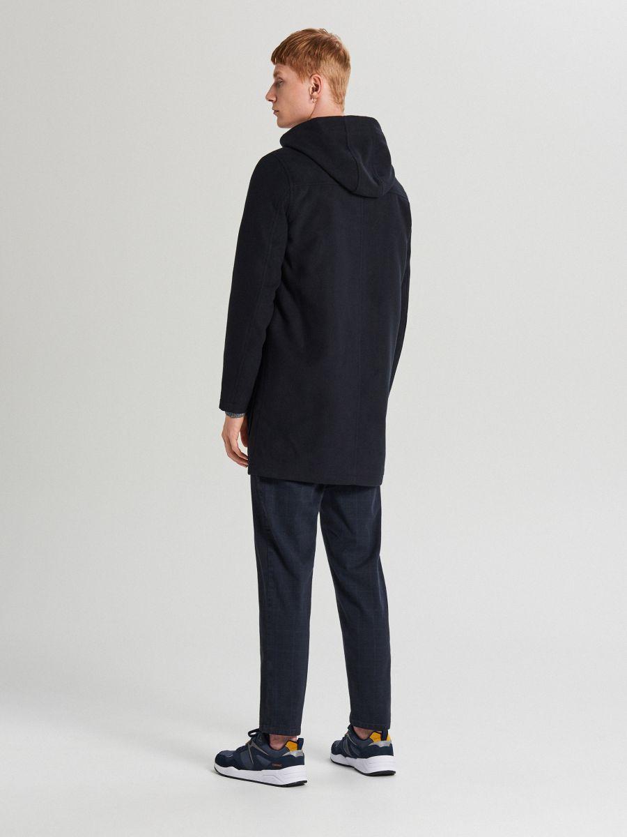 Lekki płaszcz z kapturem - GRANATOWY - WL843-59X - Cropp - 5