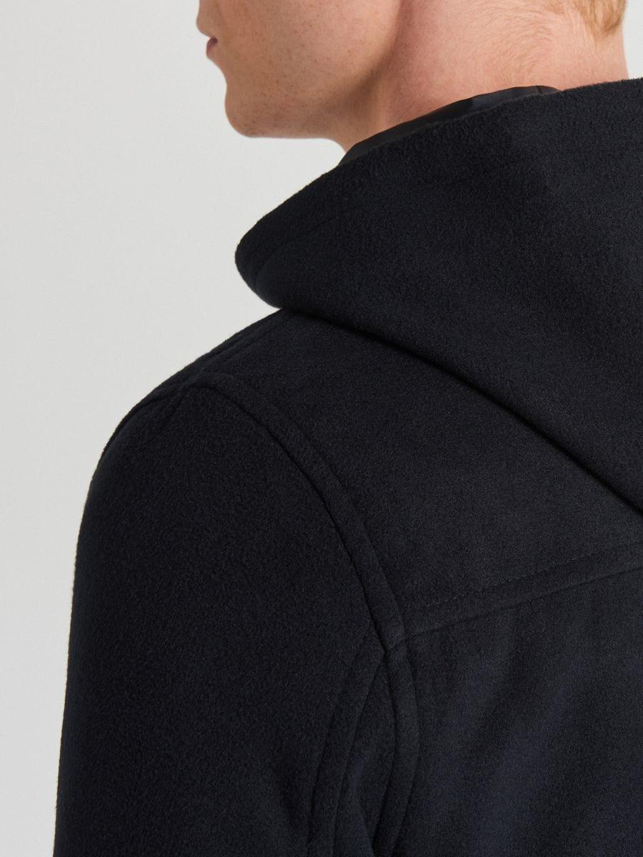 Lekki płaszcz z kapturem - GRANATOWY - WL843-59X - Cropp - 7