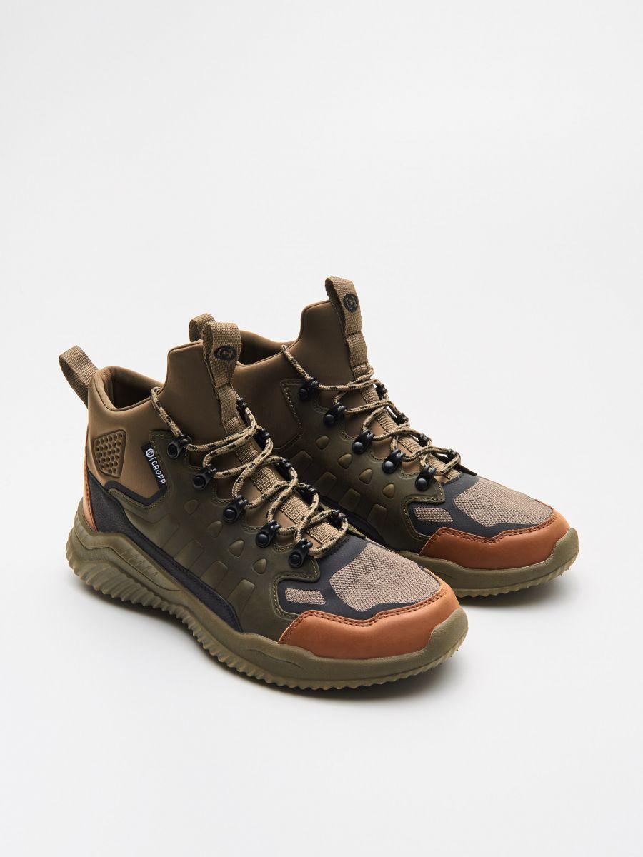 Wysokie sneakersy - KHAKI - WN937-87X - Cropp - 3