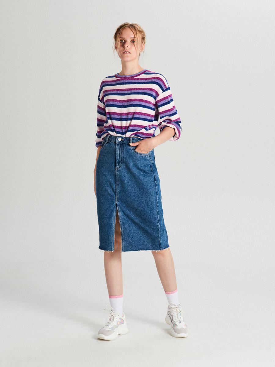 Sweter w paski - WIELOBARWNY - WR726-MLC - Cropp - 2