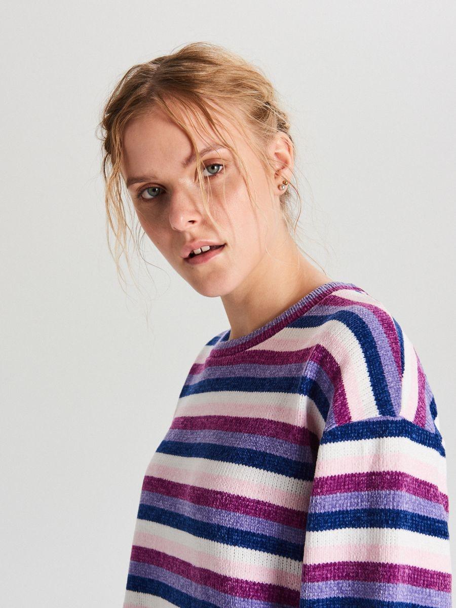 Sweter w paski - WIELOBARWNY - WR726-MLC - Cropp - 5