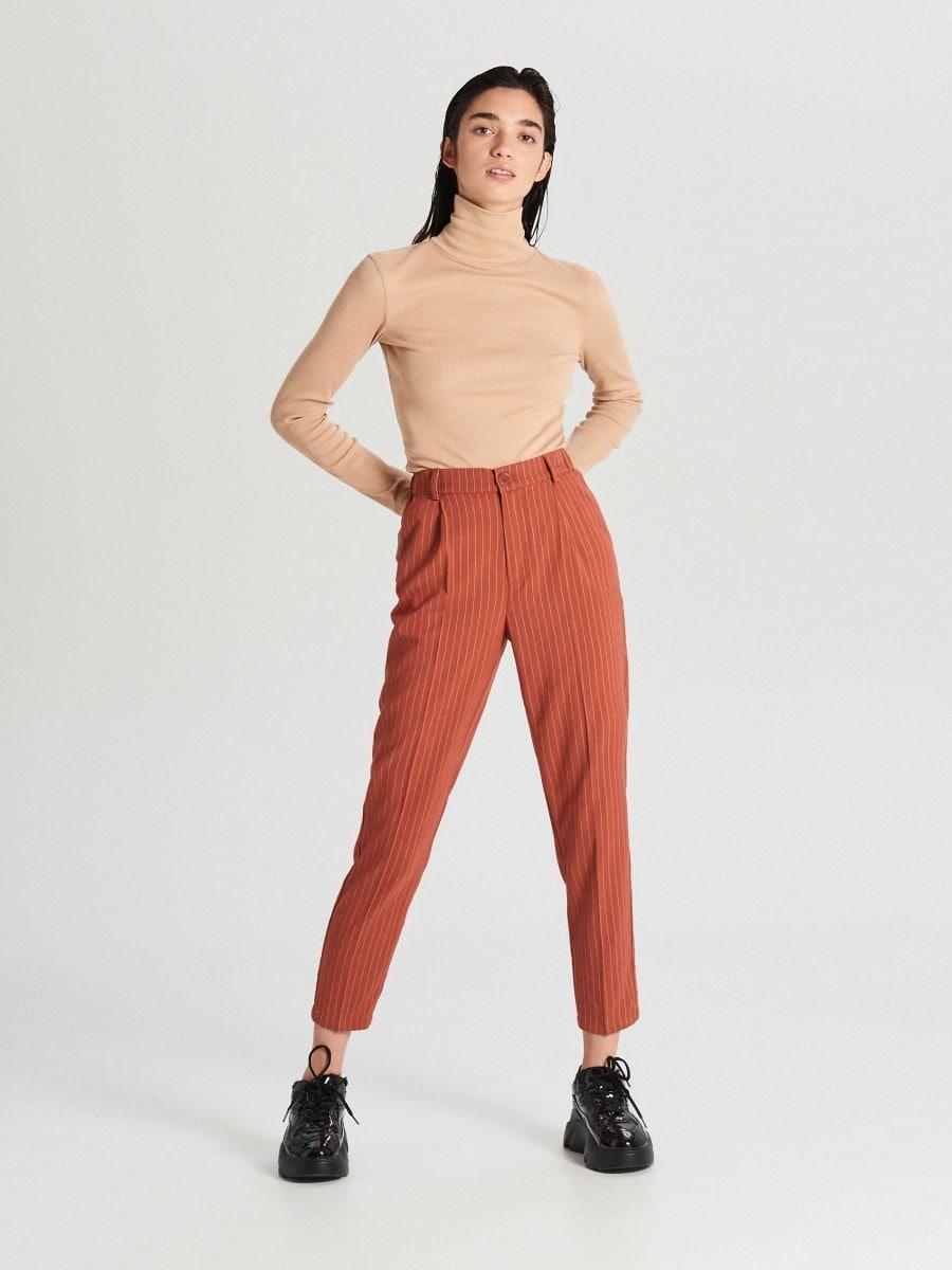 Spodnie chino - BRĄZOWY - WS549-88X - Cropp - 1