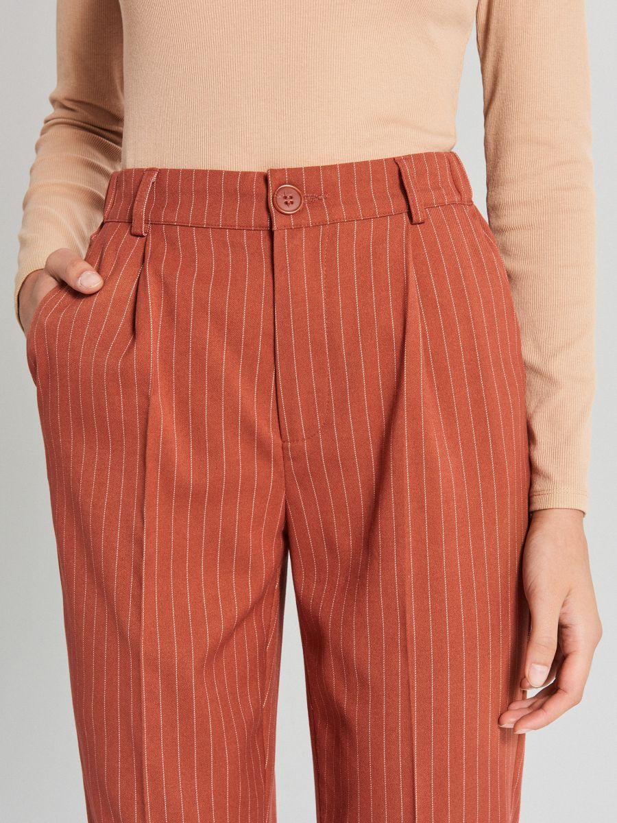 Spodnie chino - BRĄZOWY - WS549-88X - Cropp - 3