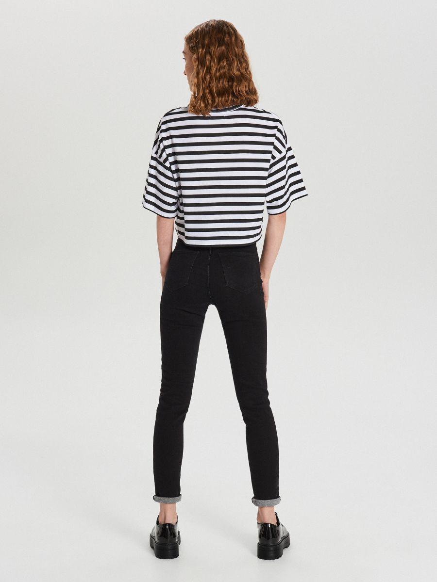 Koszulka oversize - BIAŁY - WS789-00M - Cropp - 4