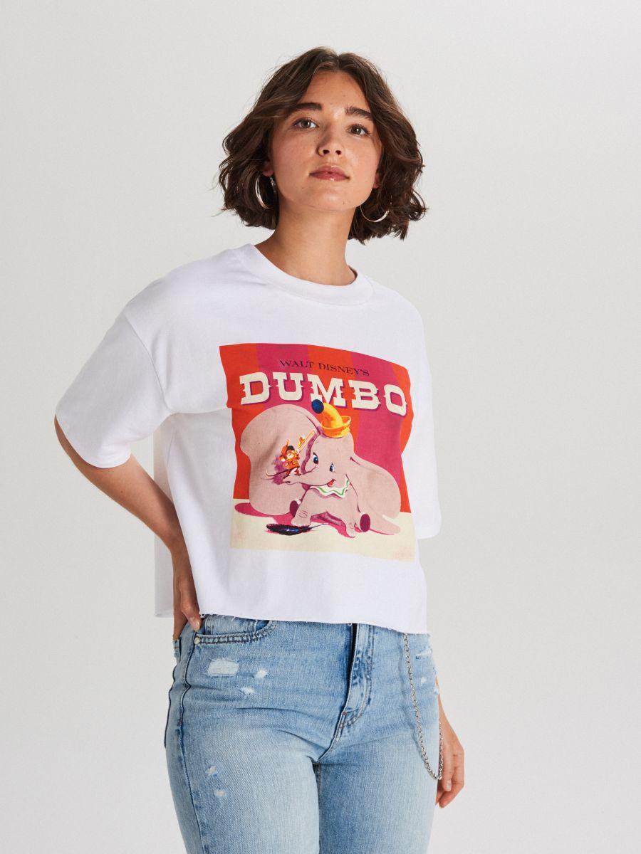 Koszulka Dumbo - BIAŁY - WS795-00X - Cropp - 1