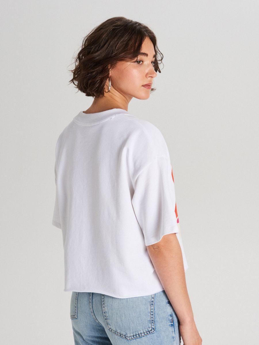 Koszulka Dumbo - BIAŁY - WS795-00X - Cropp - 3