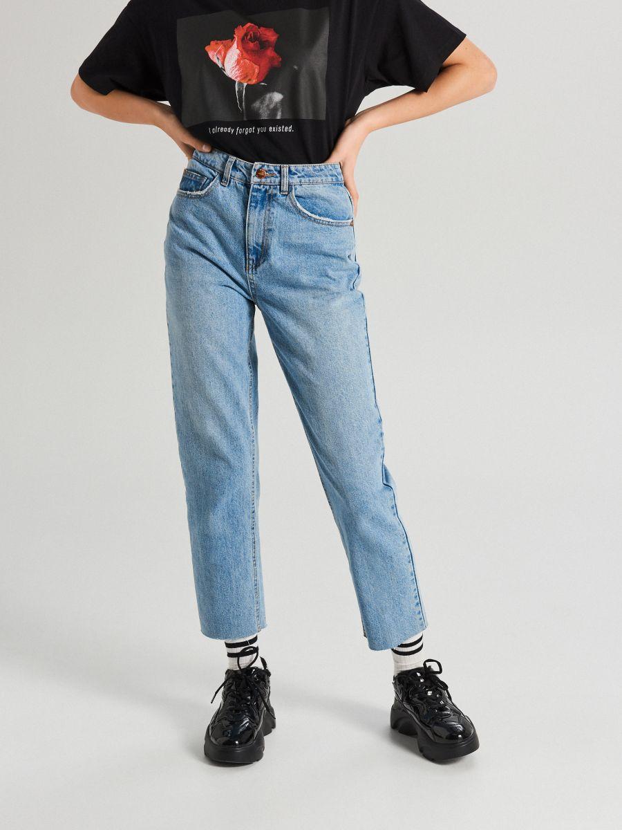 Jeansy z prostą nogawką - NIEBIESKI - WT536-50J - Cropp - 2